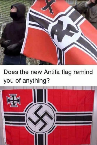 Antifa flag 'anti fascist'