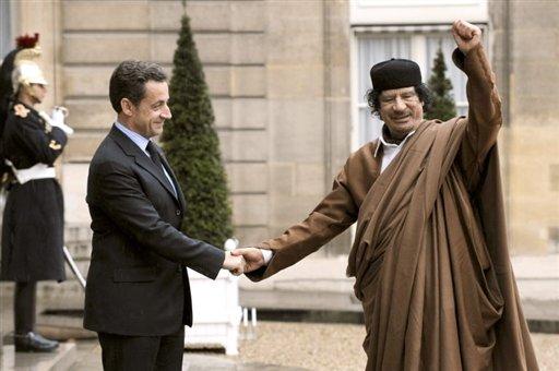 Kadhaffi en Sarkozy