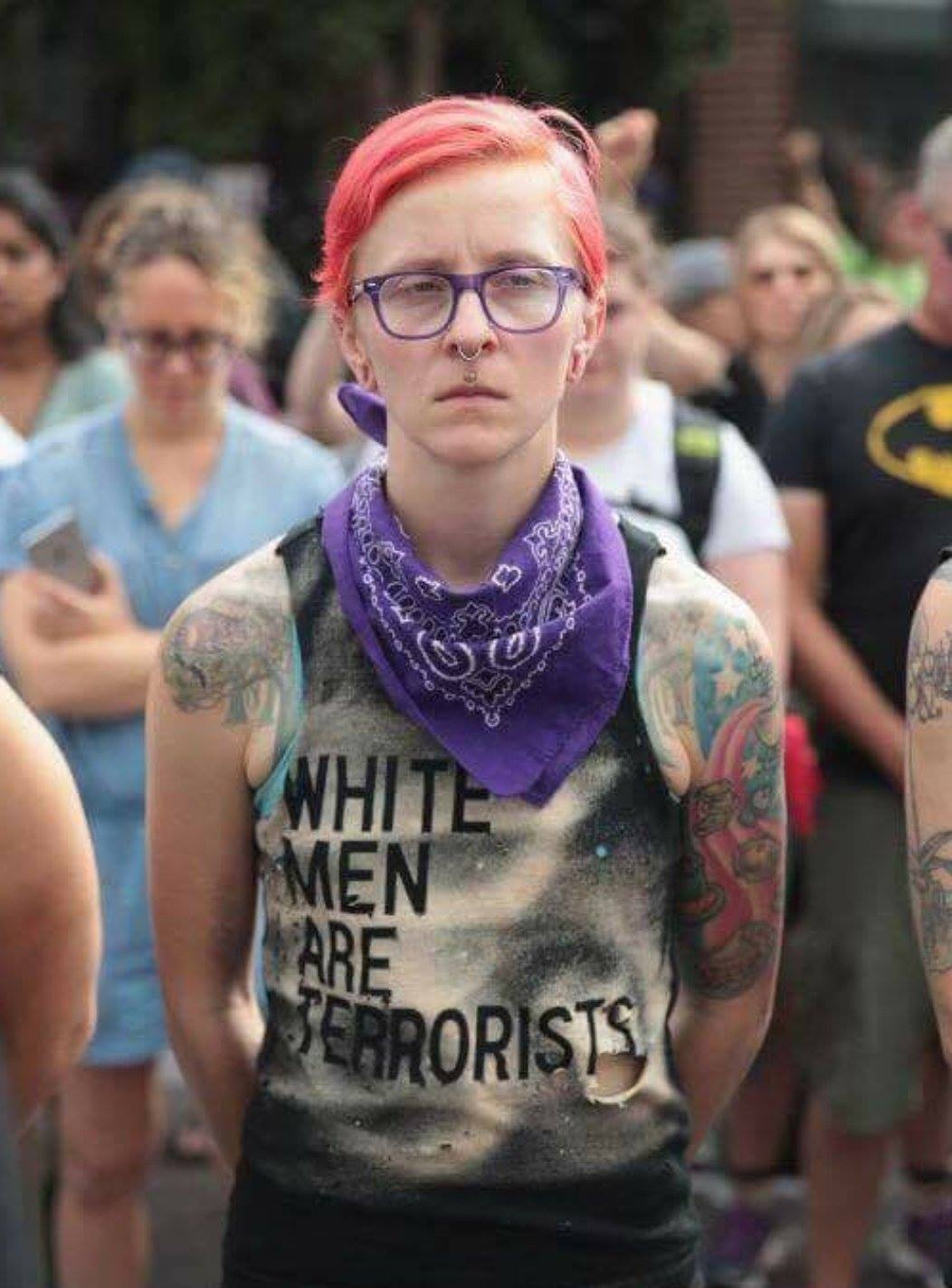 white men are terrorist female hitler